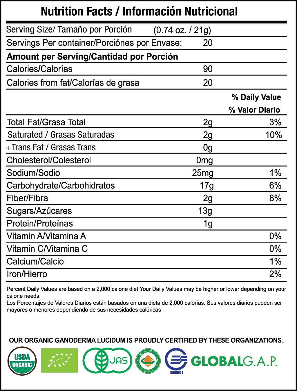 Hazelnut Latte nutrition facts